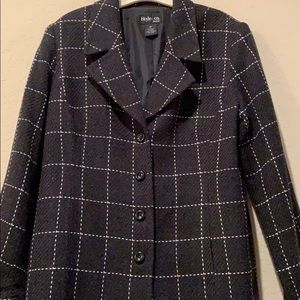 Style & Co Jackets & Coats - Style and Co. Charcoal jacket!